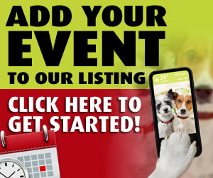 Add your event to our listing. Click here to get started.